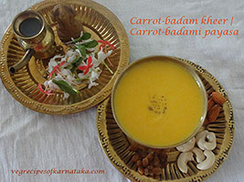 carrot badam payasa