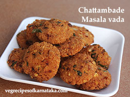 chattambade or masala vade recipe
