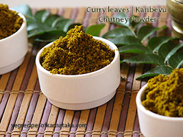 karibevu or curry leaves chutney powder