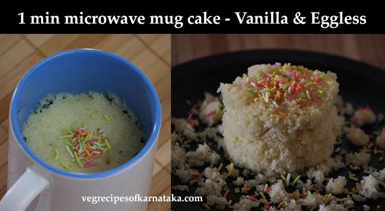Microwave Vanilla Cake Recipes In A Mug: Eggless Mug Cake In Microwave